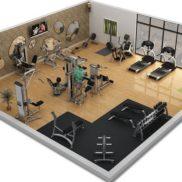 Фитнес клуб в гостинице площадью 98 м.кв.