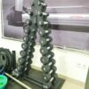 Стойка с набором гантелей от 1 до 10 кг 10 пар оцинкованные