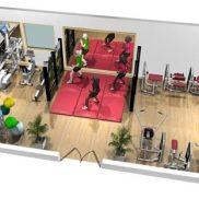 Зал для персональных тренировок площадью 73 м.кв.